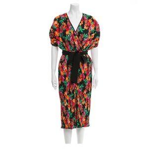 Diane Von Furstenberg Autumn wrap dress S Med
